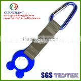 Carabiner short lanyard with keychain
