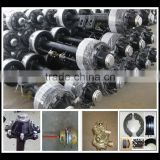 Truck Part Factory Round Tube Oil Lubrication Rear 13 Tons outboard Drum American Type Heavy Duty Semi Trailer Axles