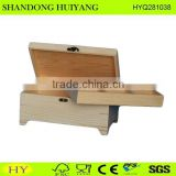 FSC cheap pine wood tea box