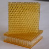 fire-retardant light transmission light weight honeycomb composite panel