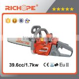 40cc gasoline chainsaw,garden chain saws tools with quanlity saw chain and better performance