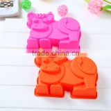 Lovely Cow Shape Silicone Cake Baking Pan Mold, baking supplies for cake decoration,baking mold