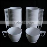 6oz Plastic White Coffee cup/ OEM Tea Mugs Cups for Party Supplies 170ml/custom plastic coffee white disposable cups for sale