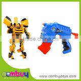 Best sale good quailty plastic deformation toys with rubber soft bullet gun