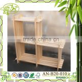 Aonong bamboo sundries mounted storage cabinet/clothing/shoes hanging rack/towel and shelves stand easy use storage rack