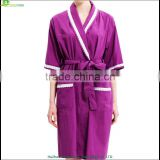 Ladies cotton bathrobes women night dress with beauty lace slumber wear for summer terry cotton bathroom
