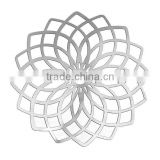 304 Stainless Steel Flower Hollow Carved Filigree Components Computer Metal Patch Embellishments Jewelry Findings