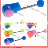 whistle design personalized tongue rings body piercing jewelry Image