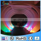 LED inflatable ivory shape column light balloon arch for wedding or party decorations