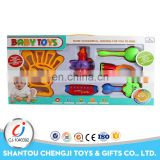 Top sale funny 6pcs/box plastic baby rattles newborn baby toy