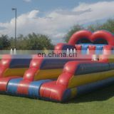 2 in 1 inflatable bungee run