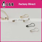 wholesale fancy loop pin Metal Gold/Silver/Black brass material decorative safety pins