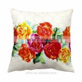 Cotton Canvas Printing Throw Sofa Home Decor hand embroidery cushion cover