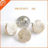 high fashion rose gold plating button no hole for garment