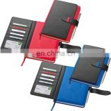 multi functional PU leather cover planner notebook with elastic tape and ball pen NOTEBO913