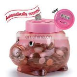 Brand new bank digital coin counting money jar large plastic piggy bank for kids
