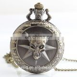 Large Quartz Watch Retro Fashion Personality Of Male And Female Students,Cross Fire Cartoon Relief Pocket Watch