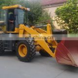 1.6ton Heavy construction equipment mini wheel underground loader, front end loader attachments