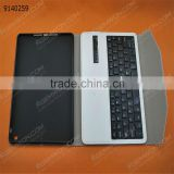 bluetooth keyboard for iPad Air,white high quality PU Removable plastic keyboard with synthetic leather case