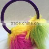 Children and baby thermal ear cover colorful faux fur earmuffs
