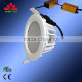 Most popular design white housing IP65 100V-240VAC Epistar smd 9W surface mounted led down light