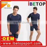 2016 High quality breathable sports athletic training wear mens gym training sports top wear