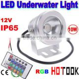 LED Floodlight 10W 12V flood light Underwater 880LM Light with Flat Glass Reflection cup CE RoHS