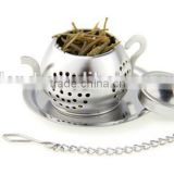 YangJiang Factory manufacture Large Size Kettle Shaped metal Tea Infuser