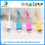 Remax PVC copper core two sided usb cable data and charge for Samsung and other digital devices