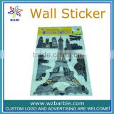 3d Eiffel Tower toy wallpapers sticker for decoration