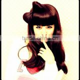 2013new fashion style synthetic chignon hair wig accessory with clip