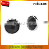 925 sterling Silver Black Agate Mens Tanishq Diamond Stud Earrings Factory Wholesale