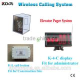 Multi functional Wireless waiter call button Transmission System remote control elevator calling system for building site