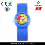 Hot selling silicone watch for promotional gifts kids slap band watches silicone slap strap watch