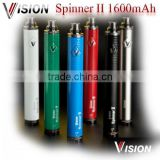 2014 new High Capacity e cig battery vision spinner 2 1600mah vision spinner II