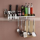 50cm two cups stainless steel kitchen tool holder 304 dual cup kitchen shelf rack shelving Storage Rack spice rack