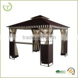 Gazebo with curtain for garden outdoor use
