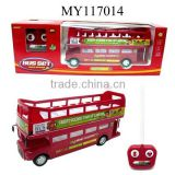 remote control tourist bus toys R/C 4ch double-decker bus toys with light music