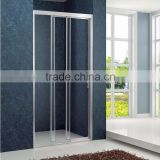 Aluminum Frame 3 Panel Tempered Glass Small Sliding Shower Door(KD4101)