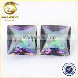 Natural stone makes jewellery, beautiful rainbow colored stones, hot sale square shaped loose diamonds