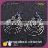 E75340401 All Types Of Self Piercing Hoop Fashion Design Hanging Earrings With Layered Circle Siderosphere