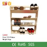 XJ002 Yiwu HOME-GJ French Furniture Cheap Waterproof Wooden 100 Pair Storage Shoe Rack Wholesale