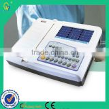 Examination Therapy Type CE Approved Low-Freqency 12 Channel 12 Leads Portable Automatic Work Mode ECG Machine