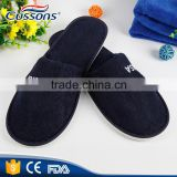 Cheap Disposable Black Hotel Slippers Cheap Personalized Slippers with Logo for Hotel Guests