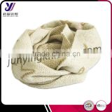 Soft feel knitted scarf 100% acrylic hand knit scarf patterns collar infinity scarf factory wholesale sales (accept custom)