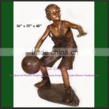 Outdoor Antique Bronze Boy sculpture