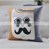 hot sale new design creative cartoon funny facial expression chair sofa decorative cushion pillow caes