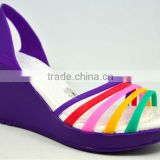 HAVE STOCK 2013 new design slip-on violet wedge shoes for lady women fancy high heel sandals