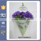 metal wall art wholesale hanging garden flower pot