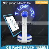 Made in China wholesale program NFC phone mini flashing fan toy
